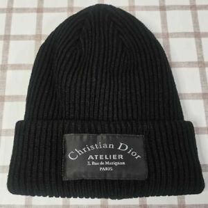 Christian Dior Beanie Men Womens Cap Casual Hat Black