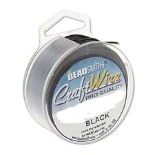Craft wire 22 gauge (0.64mm) noir beadsmith pro qualité non tarnish