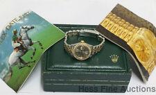 Genuine Rolex Datejust 69173 18k Gold SS No Hole Ladies Watch w Box Sticker