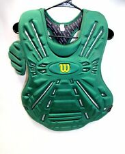 WILSON FASTPITCH SOFTBALL CHEST PROTECTOR KELLY GREEN L/XL 16.5""