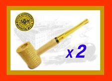 "TWO GENUINE ORIGINAL MISSOURI MEERSCHAUM Co STRAIGHT CORN COB PIPES ""LEGEND"""