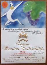 Une étiquette de Mouton Rothschild 1982