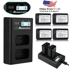NP-FW50 Battery&Dual Charger LED Display For Sony A6000 A5000 A6300 Alpha A7 A7R