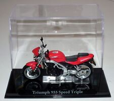 Atlas Editions-Triumph 955 Speed Triple-Modelo Escala 1:24 (IXO)
