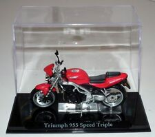 Atlas Editions-Triumph 955 Speed Triple-Modelo Escala 1:24 (IXO)