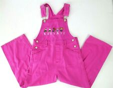 Girls RUGRATS Nickelodeon Lilac Pink Denim Vintage Cotton Overalls Sz 6X