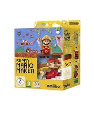Super Mario Maker & Mario amiibo Bundle - PAL Region Locked [Nintendo Wii U] NEW