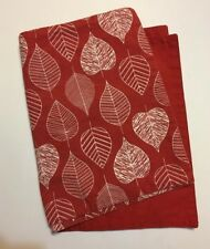 """Autumn Placemats Set Of 2 12"""" X 18"""" Leaf Pattern And Solid Reversible"""