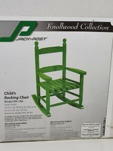 Jack Post KN-10G 1 pc. Green Wood Frame Knollwood Kid's Rocking Chair