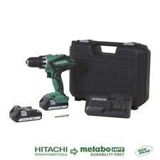 Hitachi 18Volt Cordless Lithium-Ion 1/2 Inch Compact Drill Driver Kit 2 Battery