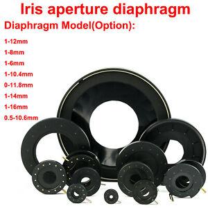 0.5-12mmAdjustable Mechanical Iris Diaphragm Microscope Module Camera LenAdapter