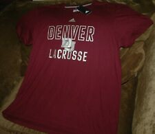 Denver Pioneers lacrosse t-shirt men's Xl New With Tags Adidas Performance