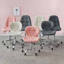 More details for cushioned computer desk office chair chrome legs lift swivel small adjustable uk