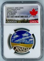 2017 CANADA NGC FIRST RELEASES PF70 MATTE SILVER CANOLA FIELD S$10!
