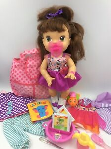 2013 Brunette My Baby All Gone Baby Alive Doll Pees & Poops 30 Phrases