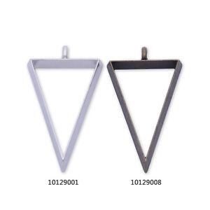 10 Metal Triangle frame  35*22*4mm open back pendant trays Resin Setting Blanks