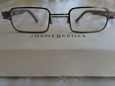 Jhane Barnes Quotient Brown Rectangular Eyeglass Frames Size 44-21 Made in Italy