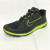 NIKE FI Impact Mens Size 10.5 USA Black Venom Green Spikeless Golf Shoes 611510