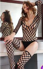 Sexy Women Fishnet Bodystocking Babydoll Dress Adult Bodysuit Lingerie Underwear