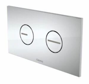 Caroma Invisi Series II Round Dual Flush Button Panel Pack, Silver (Plastic)