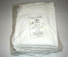 Polypropylene Valutek Disposable Lab Coats, White, 10 pack - L large knee length