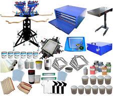 Full Set 6 Color Screen Printing Kit Press Printer Flash Dryer Exposure DIY Tool