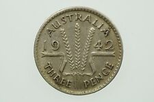 1942 Threepence Variety Die Crack and Double Struck in Very Fine Cond