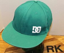 DC SHOES TEAL FITTED HAT WHITE EMBROIDERED LOGO SIZE S/M VERY GOOD CONDITION RK