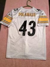 Troy Polamalu Steelers Jersey Youth Xl #43 White Extra Large