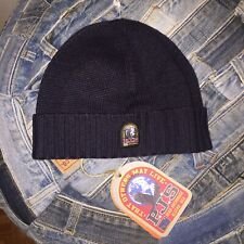 PARAJUMPERS RIB KNITTED BLACK BEANIE HAT  Unisex