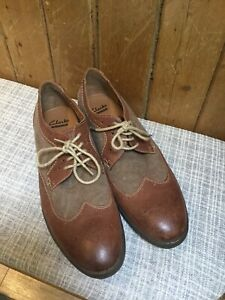Mens Clarkes Shoes 11 Tweed Brogues