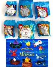 NEW Little Mermaid McDonalds Disney Happy Meal Toys Set 6 Vtg 1996 NRFP