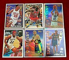 1995-96 Topps Basketball Jordan Mystery Finest Refractor Stockton Hardaway
