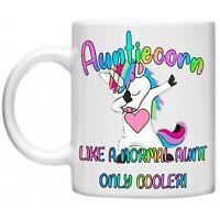 Auntiecorn Unicorn Aunty Auntie Gifts Sparkly Mothers Day Novelty Mug Gift