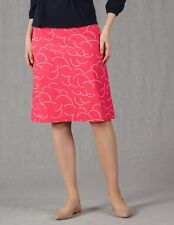 NEW $79 BODEN 100% COTTON LINED  PRINTED FUSCHIA PINK /WHITE SKIRT WG486 - US 8R