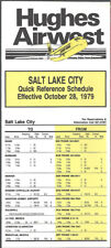 Hughes Airwest Airlines Salt Lake City timetable 10/28/79 [8022] Buy 4+ save 50%