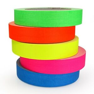 Pro-Gaff Premium Gaffer Tape - 12mm & 24mm x 25yds - Neon UV/Matt Hula Hoop Grip