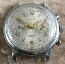 SHEFFIELD 2 Register CHRONOGRAPH Venus 188 37mm for PARTS, SPARES or PROJECT!!!!