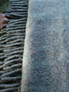 Gorgeous Sage Green Alpaca Wool Throw Blanket VGC