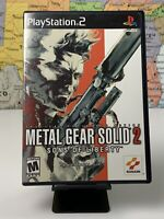 SHIPS SAME DAY Metal Gear Solid 2 Sons of Liberty Sony PlayStation 2 PS2 Tested