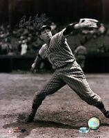 "Bob Feller Signed 8X10 Photo Autograph ""HOF 62"" Indians B/W Pitching Silver COA"