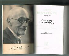 Jacinto Benavente Comedias Escogidas Teatro Premio Nobel 1922 Aguilar Espana '61