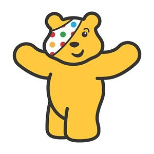 CHILDREN IN NEED PUDSEY BEAR OPEN ARMS - IRON ON TSHIRT TRANSFERS - A6 A5 A4