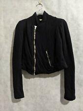 Rick Owens Lilies Angora Blend Padded Asymmetric Zip Jacket Sweater Size 40...