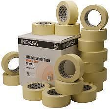 """Indasa 48mm Low Bake Masking Tape 2"""" Box of 20 Rolls High-Temp Upto 80C MTE48"""
