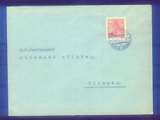 Böhmen und Mähren Bedarfsbrief mit EF Michel Nr. 66