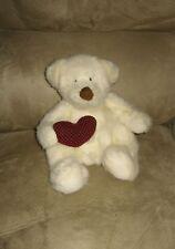 "Cute Sitting 8"" Russ Bear Hugs Bear Holding Valentine Heart Plush"