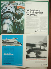 9/70 PUB PLESSEY DYNAMICS BEA TRIDENT / DOWTY JAGUAR / NORD 262 DAN-AIR AD