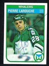 Pierre LaRouche #125 signed autograph auto 1982-83 O-Pee-Chee Hockey Card