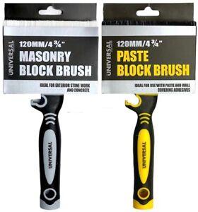 NEW Masonry Exterior Block Brush DIY Paint Painting Pro Decorators High Capacity
